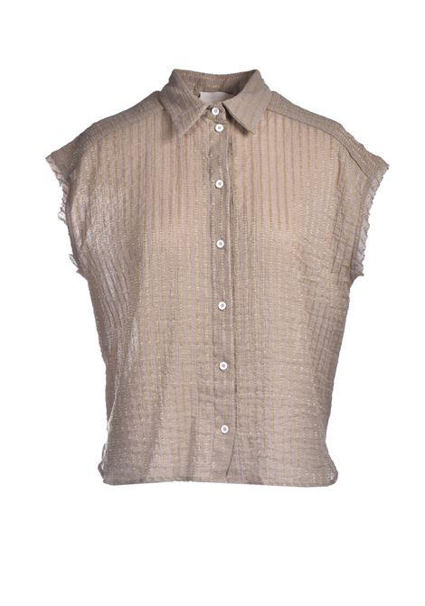 Camicia in voile di cotone con righe lurex MOMONI | Camicie | MOSH0110110