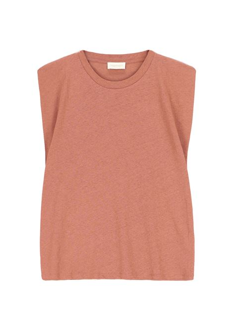 Armholes T-shirt in pink lurex jersey MOMONI |  | MOTO0020450