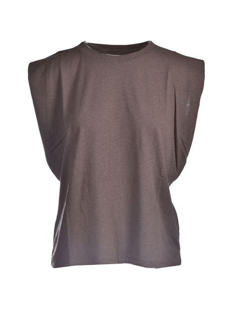 Top in jersey di cotone taupe MOMONI | Top & T-shirt | MOTO0020625