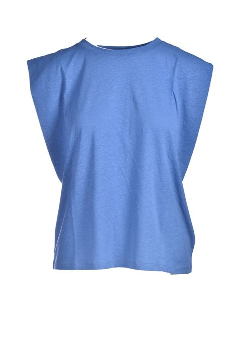 Top in jersey di cotone azzurro MOMONI | Top & T-shirt | MOTO0020834