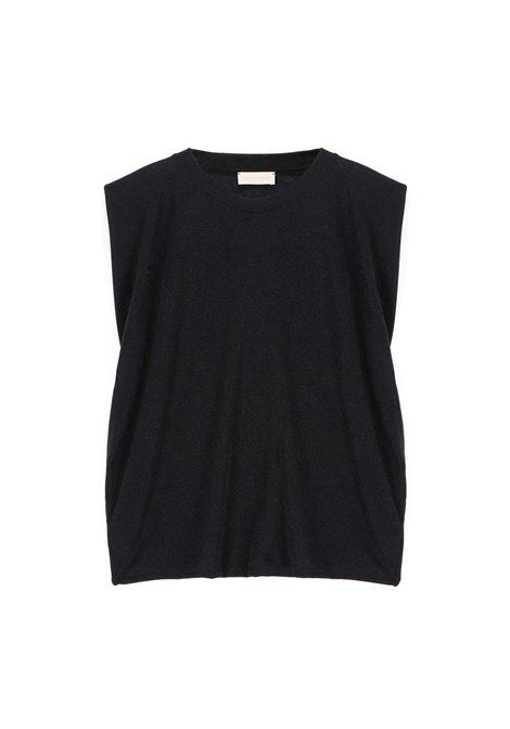 Top in jersey di cotone nero MOMONI | Top & T-shirt | MOTO0020990