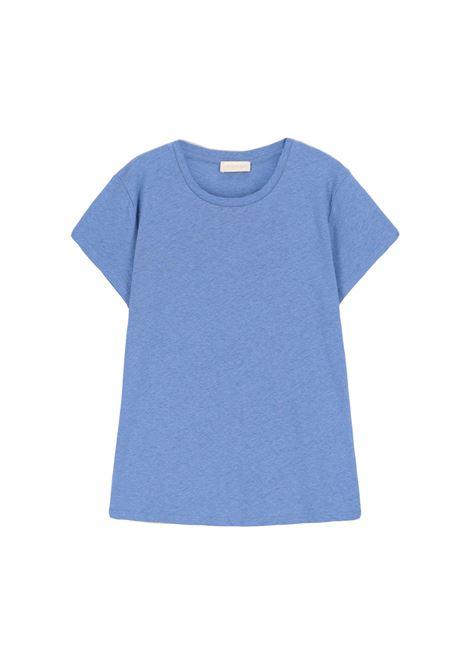 Light blue cotton jersey crewneck T-shirt MOMONI |  | MOTS0060834