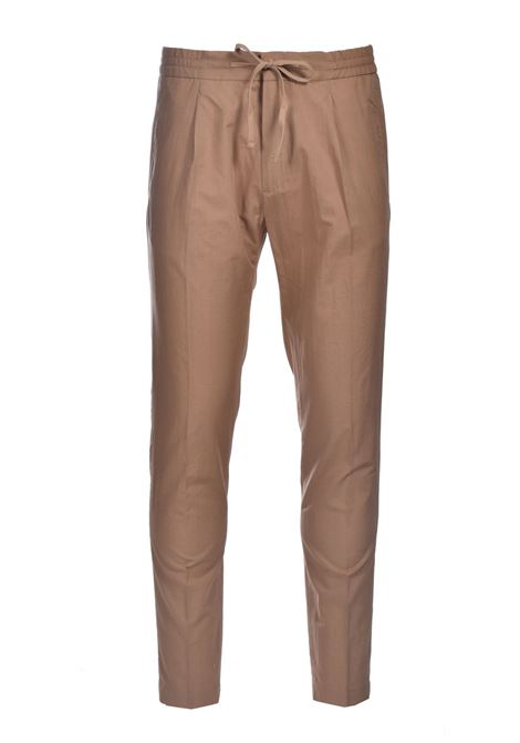 Trousers with elastic and pleats PAOLO PECORA | Pants | B011-00541174