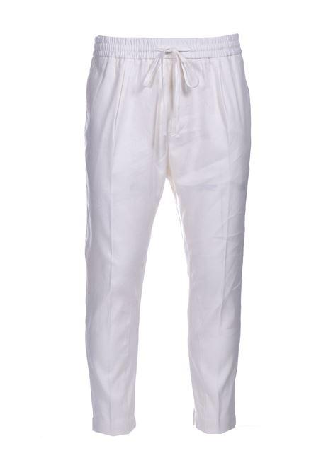 Pantalone di lino con elastico e coulisse PAOLO PECORA | Pantaloni | B061-36011102