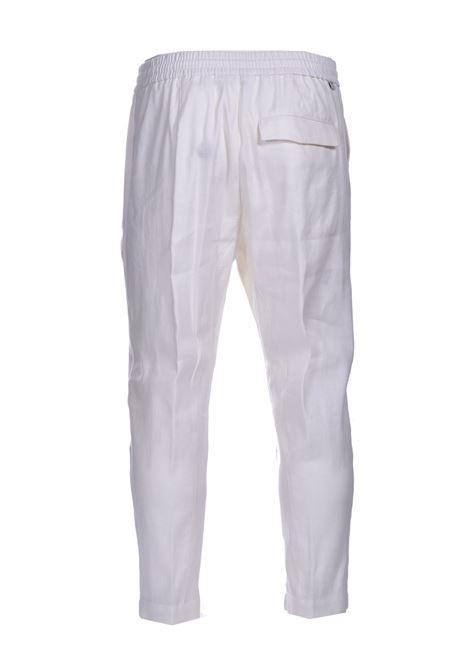 Linen trousers with elastic and drawstring PAOLO PECORA | Pants | B061-36011102