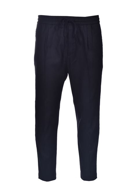 Linen trousers with elastic and drawstring PAOLO PECORA | Pants | B061-36019000