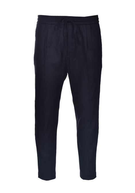 Pantalone di lino con elastico e coulisse PAOLO PECORA | Pantaloni | B061-36019000