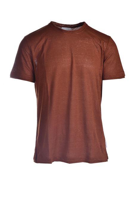 T-shirt in jersey di lino slub PAOLO PECORA | T-shirt | F011-48482259