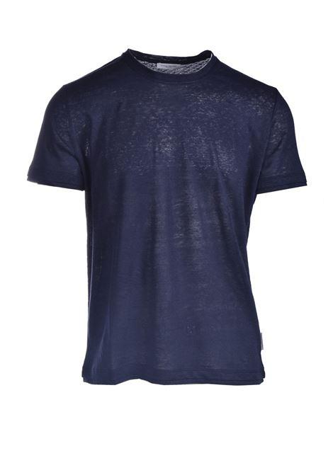 T-shirt in jersey di lino slub PAOLO PECORA | T-shirt | F011-48486685