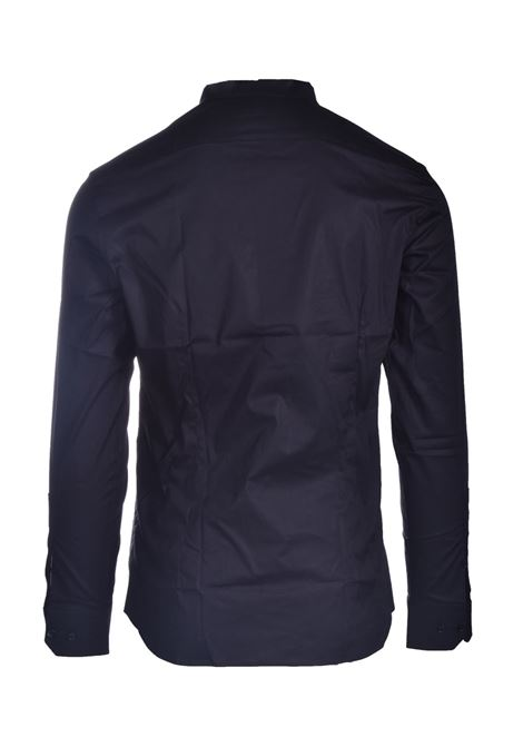 Black shirt with Korean collar PAOLO PECORA | Shirts | G021-02179000