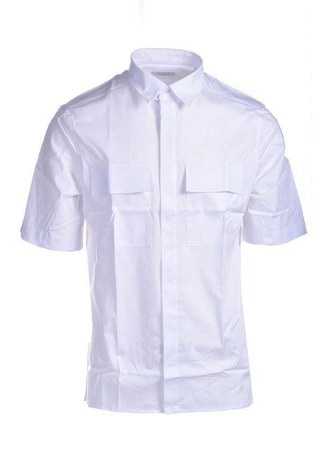 White cotton short-sleeved shirt PAOLO PECORA | Shirts | G121-02171101