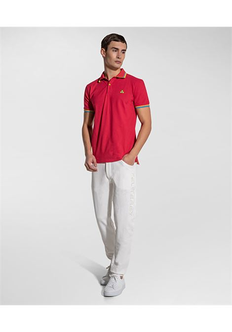 New Selandina polo shirt in crimson regular fit pique PEUTEREY | Polo Shirt | PEU3936065