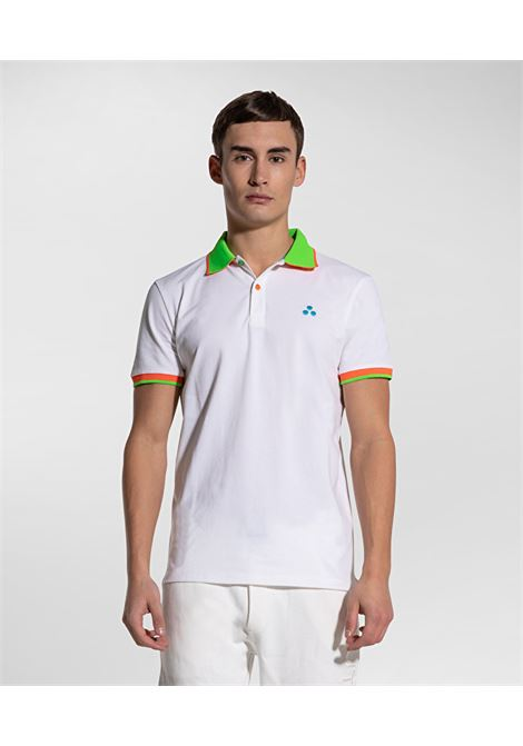 Polo New Selandina in piquet regular fit bianco PEUTEREY | Polo | PEU3936BIAOF
