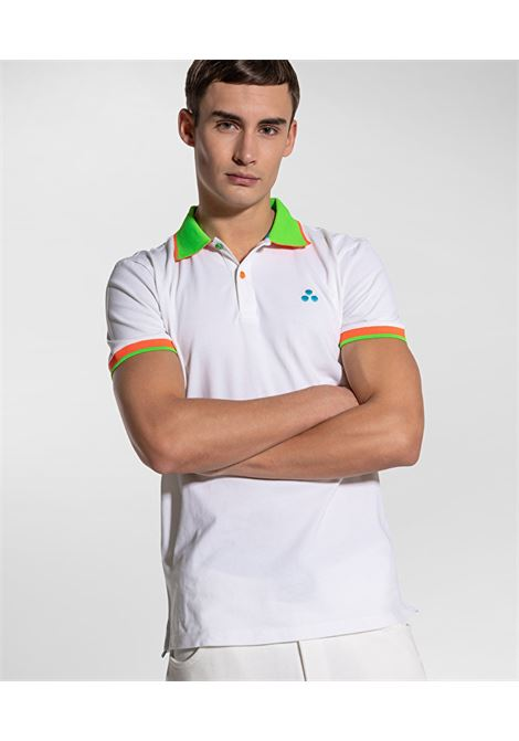 New Selandina polo shirt in white regular fit pique PEUTEREY | Polo Shirt | PEU3936BIAOF