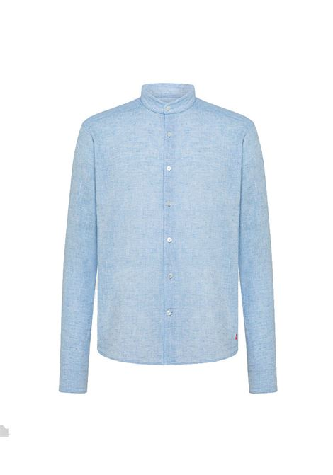 Cotton and linen shirt with Korean collar PEUTEREY | Shirts | PEU3945270