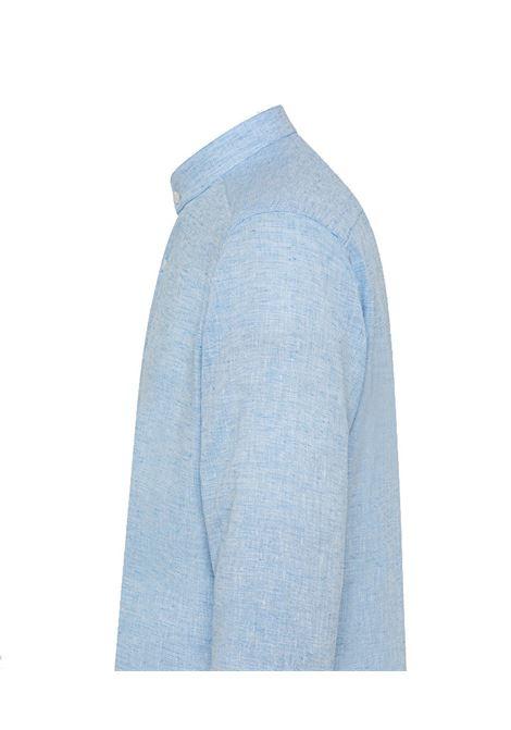 Camicia in cotone e lino con colletto coreano PEUTEREY | Camicie | PEU3945270
