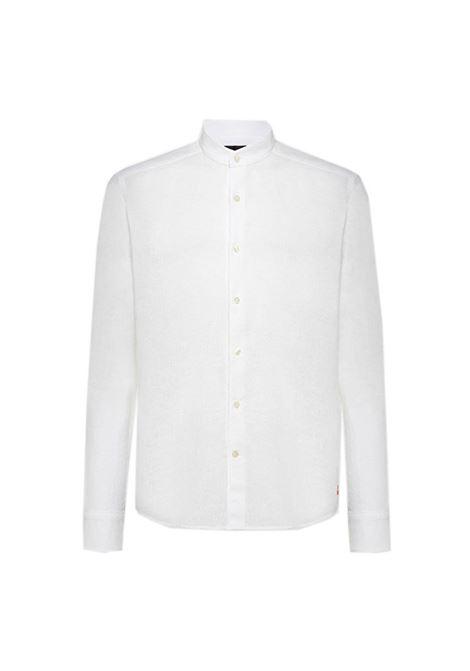 Camicia in cotone e lino con colletto coreano PEUTEREY | Camicie | PEU3945BIAOF