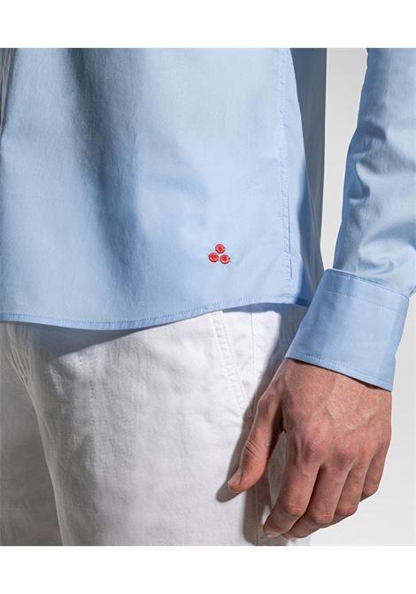 Camicia celeste in cotone stretch PEUTEREY | Camicie | PEU3947231
