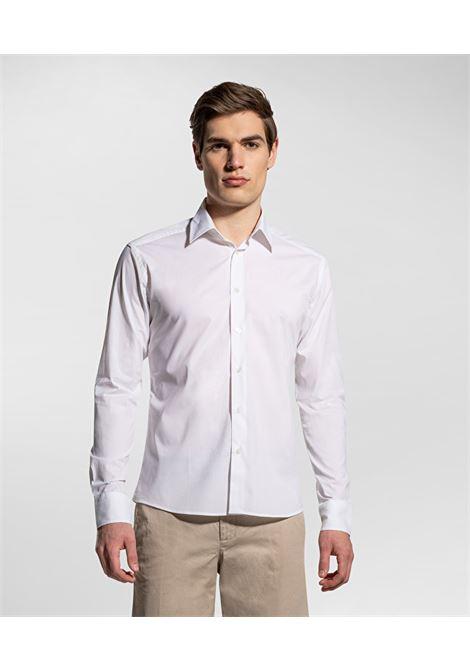 Camicia bianca in cotone stretch PEUTEREY | Camicie | PEU3947BIAOF