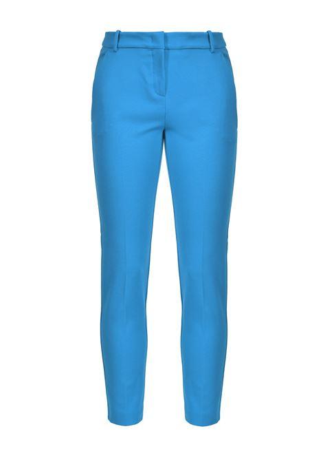 Pantaloni a sigaretta effetto scuba blu imperiale PINKO   Pantaloni   1G15LF-5872G32