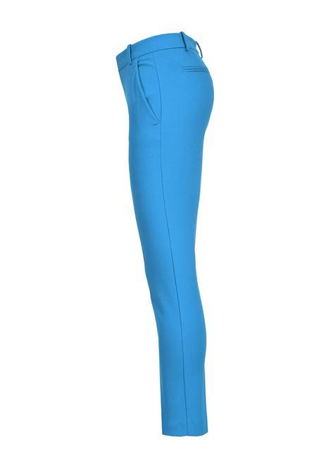 Imperial blue scuba effect cigarette trousers PINKO | Pants | 1G15LF-5872G32