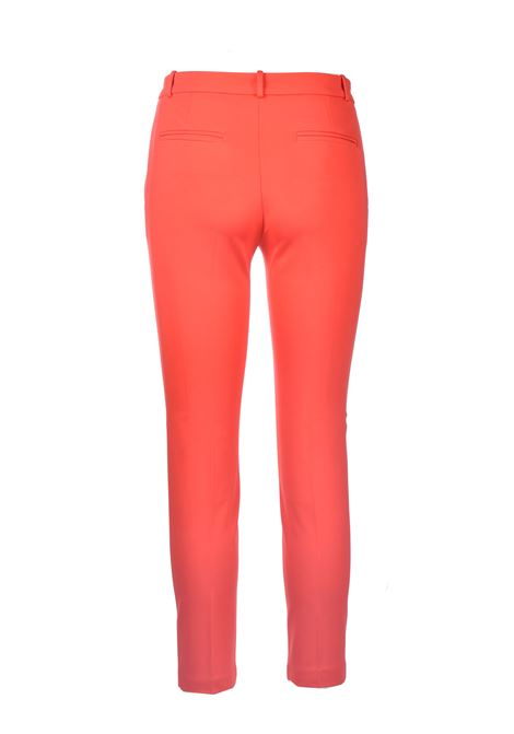 Red scuba effect cigarette trousers PINKO | Pants | 1G15LF-5872R25