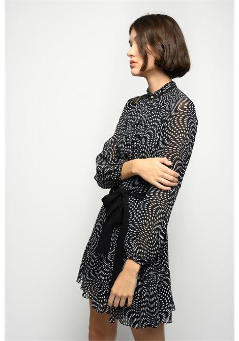 Short asymmetrical dress in georgette with polka dots PINKO |  | 1G15QZ-8421ZZ2
