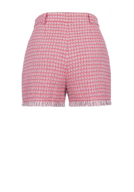 Shorts suoia in microfantasia con orlo sfrangiato PINKO | Shorts | 1G15RW-8425RN6