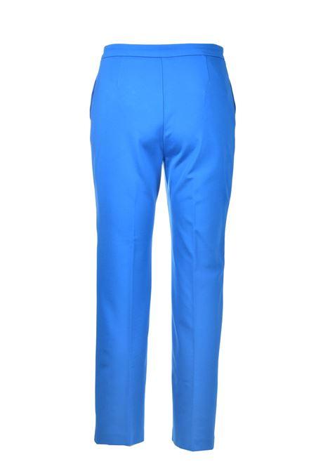 Pantalone classico con bottone oro in tessuto tecnico blu imperiale PINKO | Pantaloni | 1G15SC-5872G32