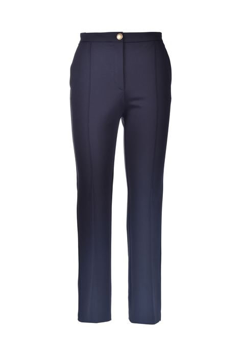 Classic trousers with gold button in black limousine technical fabric PINKO | Pants | 1G15SC-5872Z99