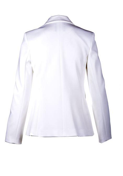 Double-breasted blazer in white technical fabric PINKO | Blazers | 1G15TQ-5872Z05