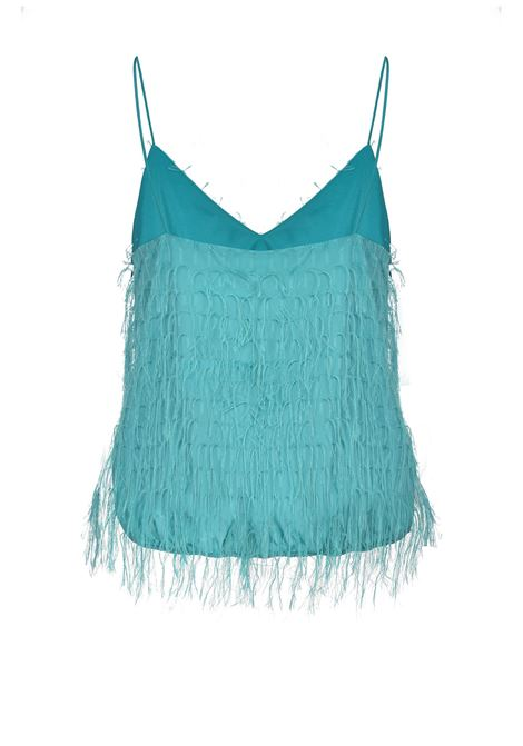 Spooky green fil coupé fringed top PINKO | Tops | 1G15U9-8447V12