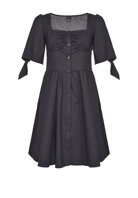 Poplin shirt dress with sleeves with bows PINKO |  | 1G15VU-Y6VXZ99