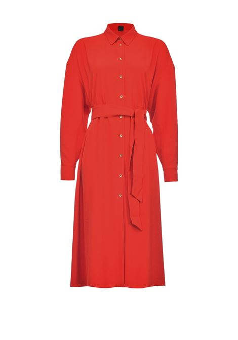 Red midi shirt dress with belt PINKO |  | 1G15Y5-8270R73