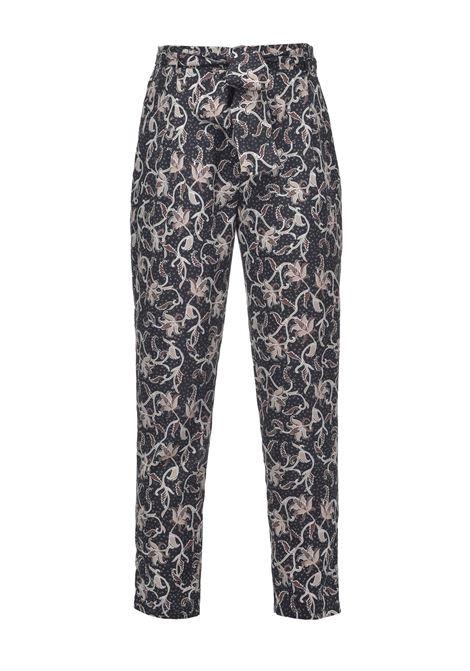 Pantaloni in crêpe con stampa remage PINKO | Pantaloni | 1G15YQ-8461IC2
