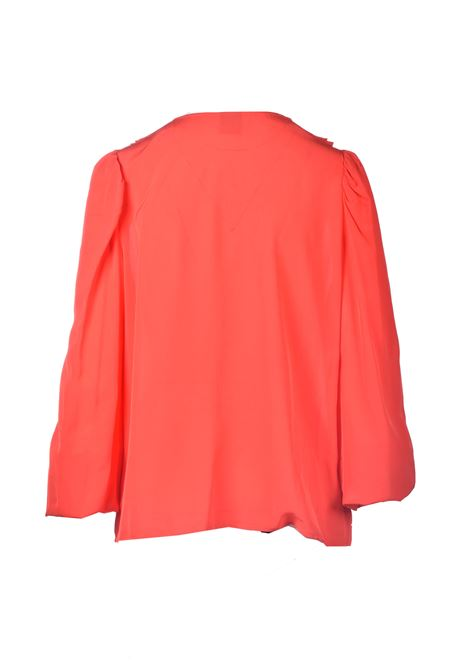 Red crepe blouse with ruffles PINKO | Blouses | 1G161Z-Y6ZVR25