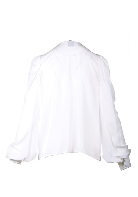White crepe blouse with ruffles PINKO | Blouses | 1G161Z-Y6ZVZ14