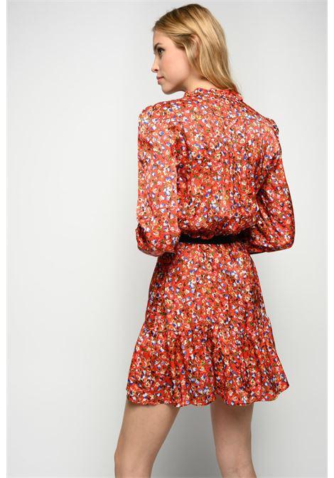 Short shirt dress in floral viscose cloqué PINKO |  | 1G162Z-8437RE3