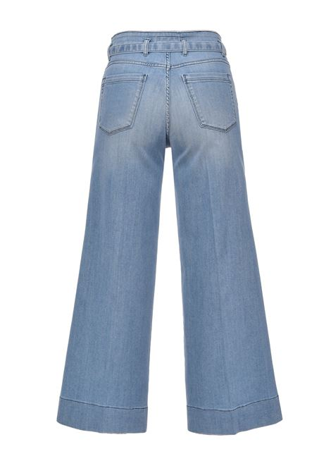 Cropped palazzo jeans in stretch denim PINKO | Jeans | 1J10L6-Y6KBG14