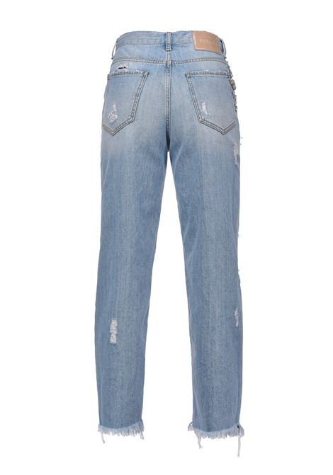 Light mom fit jeans with tears and rhinestones PINKO | Jeans | 1J10LG-Y649F15