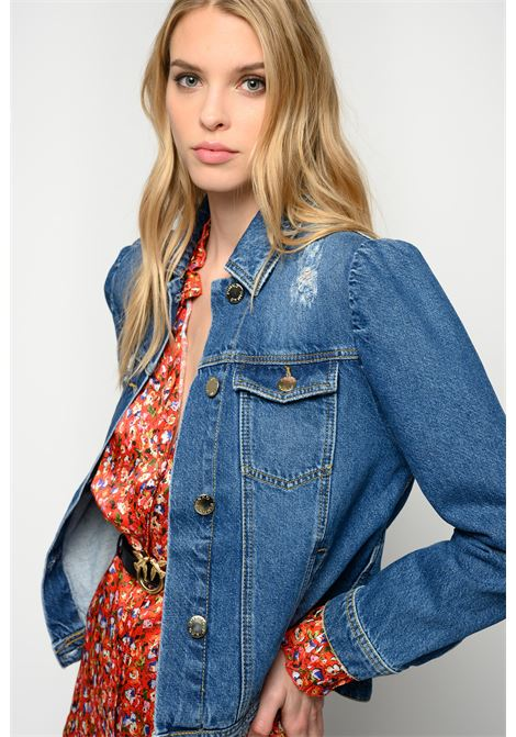 Giacca corta in jeans con maniche a sbuffo PINKO   Giacche   1J10N8-Y653G14