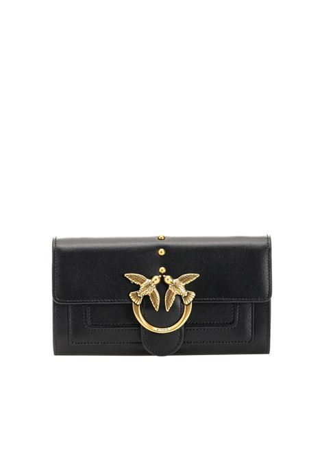 Love simply wallet with shoulder strap PINKO | Wallet | 1P221Y-Y6XTZ99