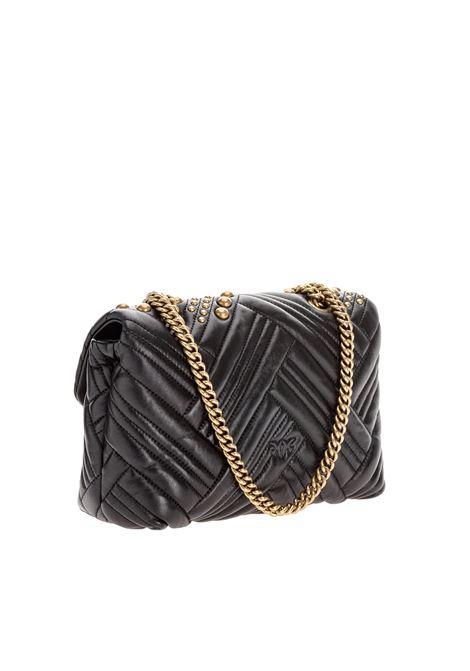 Love classic puff woven studio PINKO | Crossbody bags | 1P2258-Y6YWZ99