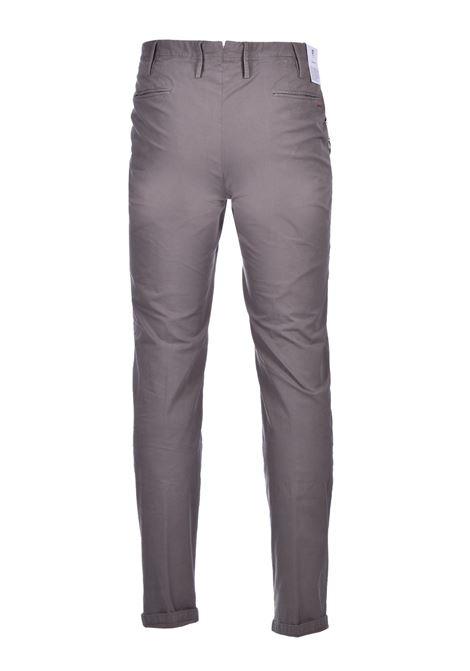 Cotton blend chinos - mud PT01 | Pants | CO-TTSAZ10WOL-NU060120