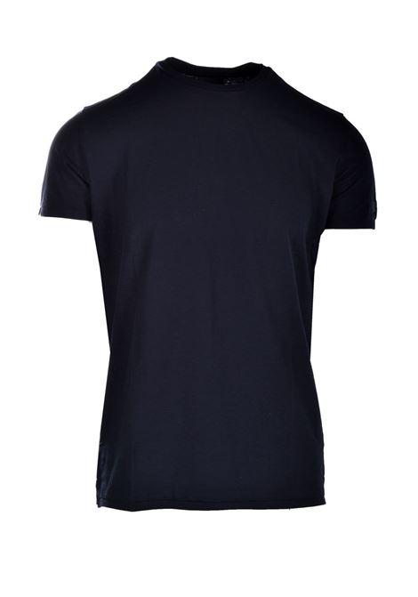 T-shirt in crepe di cotone nero RRD | T-shirt | 2116710
