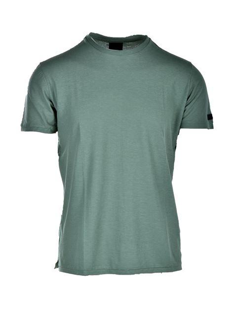 T-shirt in crepe di cotone verde prato RRD | T-shirt | 2116722