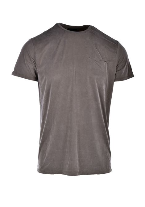 T-shirt in cupro verde militare con taschino RRD | T-shirt | 2117021