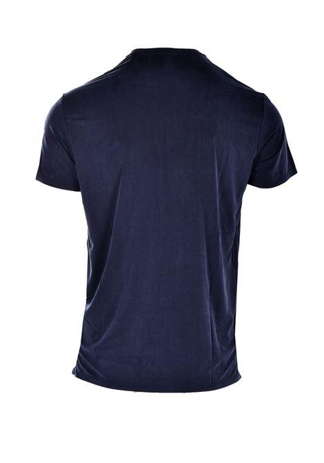 T-shirt in cupro blu scuro con taschino RRD | T-shirt | 2117060