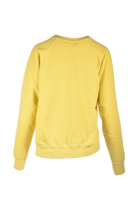 Felpa girocollo giallo con logo stampato in bianco SEMICOUTURE | Felpe | Y1SJ21B28