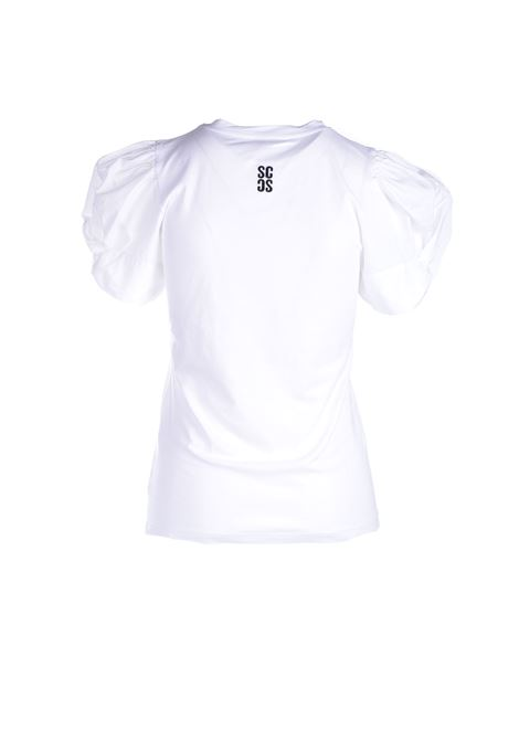 White t-shirt with puff sleeves SEMICOUTURE |  | Y1SK10A01